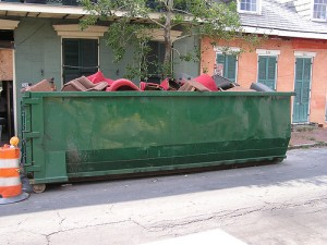 furniture in dumpster