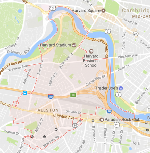 Map of Allston, MA